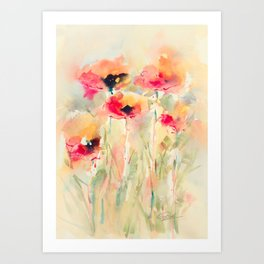 Poppies (abstract) Art Print