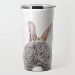 Bunny Tail, Bunny Rabbit, Baby Animals Art Print By Synplus Travel Mug