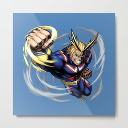 All might Punch Metal Print