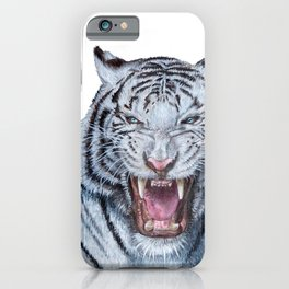 Double White tiger iPhone Case