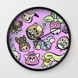 Cute Alola Pokémon Wall Clock