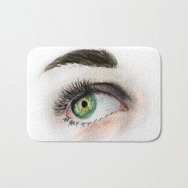 Eye Study in Watercolor 1 Bath Mat