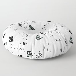 Indian summer aztec mayan symbol pattern Floor Pillow