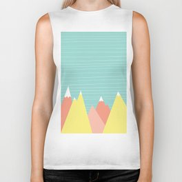 Pastel mountain range Biker Tank