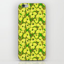 Puya Flowers, Floral Pattern, Green Yellow iPhone Skin