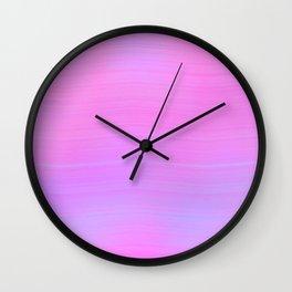 Pink Salt Wall Clock