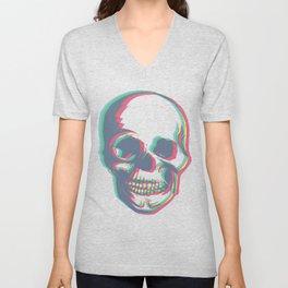 Skull - Woodprint Color Unisex V-Neck
