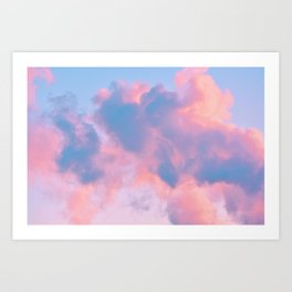 cotton candy cloud Art Print
