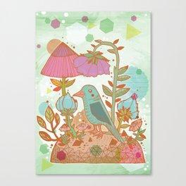 The Blue Bird Canvas Print