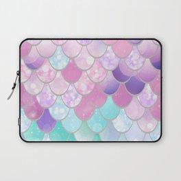 Mermaid Sweet Dreams, Pastel, Pink, Purple, Teal Laptop Sleeve