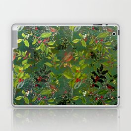 Christmas Pattern with Green Background Laptop & iPad Skin