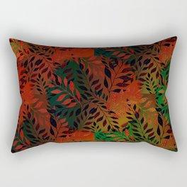 Abstract Leaf Arrangement (African Colors) Rectangular Pillow