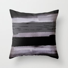 Dark shadow abstract painting Throw Pillow