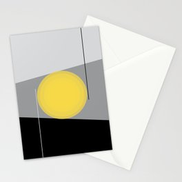 Keeping It Together - Abstract - Gray, Black, Yellow Stationery Cards