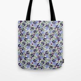 Violets Are Blue floral print Tote Bag