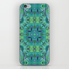 Turquoise abstract watercolor iPhone Skin