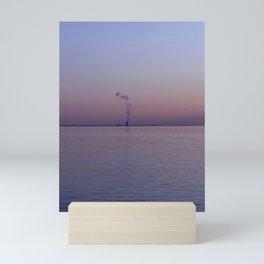 Power Plant at Sunset Mini Art Print