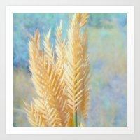 Golden Grass Art Print