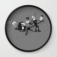 police Wall Clocks featuring Police Duality by Haragos