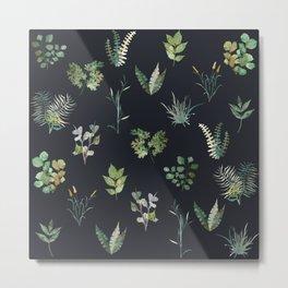 Green Nature Pattern Metal Print