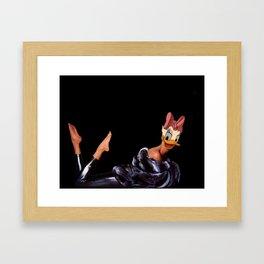 Coquette furry lady Framed Art Print