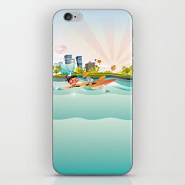 Sunday Morning Kayaking iPhone Skin