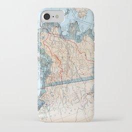 Vintage Map of Alaska (1921) iPhone Case
