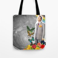 boyfriend Tote Bags featuring Future Boyfriend by Dana Fortune