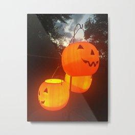 Glowing Grin Metal Print