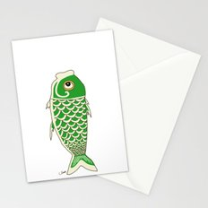 Koi Green Stationery Cards