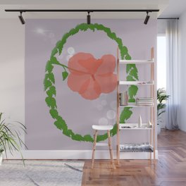 Translucent Red Hibiscus Wall Mural