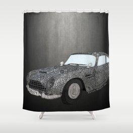 James Bond Aston Martin DB5 Shower Curtain
