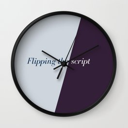 Flipping the script Wall Clock