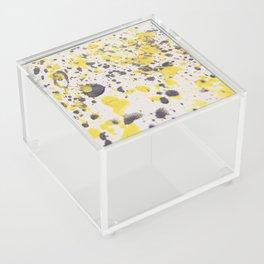 Yellow Grey Classic Abstract Art Acrylic Box