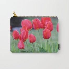Ruby Red Tulips Carry-All Pouch