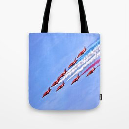 RAF, Red Arrows.  Tote Bag