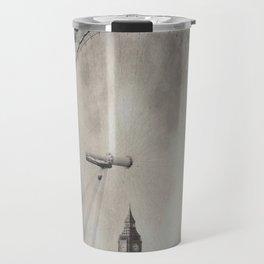 Big Ben and the London Eye, London - Tintype Travel Mug