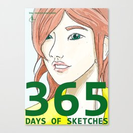 365 Days of Sketches: Number #135 Canvas Print