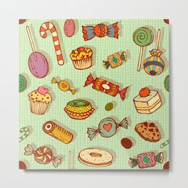 candy and pastries Metal Print