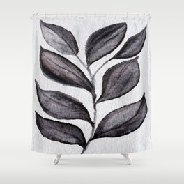 Midnight Leaves Shower Curtain