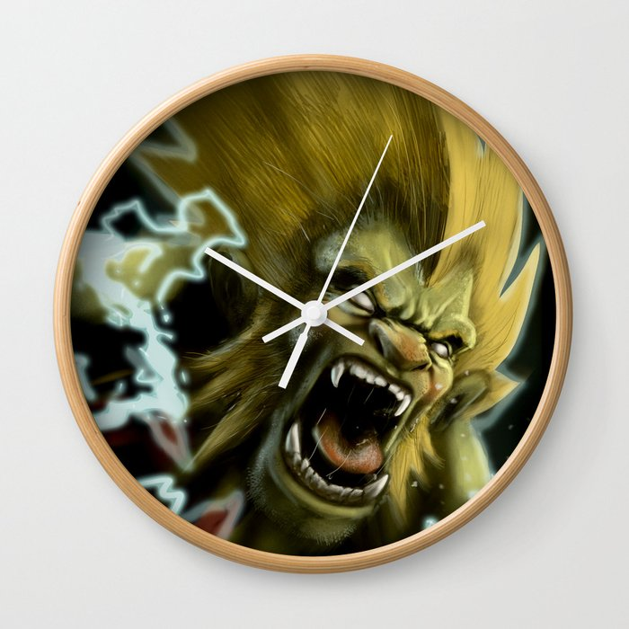 Blanka, Brazilian Street Fighter- Desafío52 Wall Clock