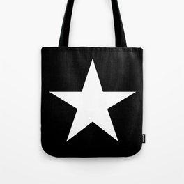 White star on black background Tote Bag