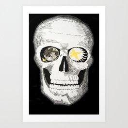 Celestial Skull Art Print