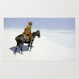 "Frederic Remington Western Art ""The Scout"" Rug"