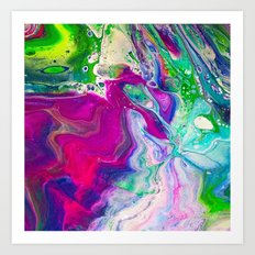 Neon Explosion Art Print