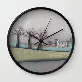 New Lands Gray Wall Clock