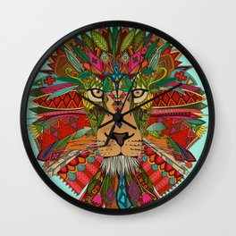 lion mint Wall Clock