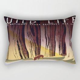 Wild Life - National Parks Preserve All Life Rectangular Pillow