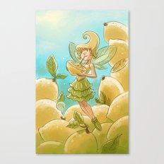 Goblins Drool, Fairies Rule - Lemon Loop Canvas Print