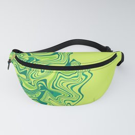Green Lime Agate Fanny Pack